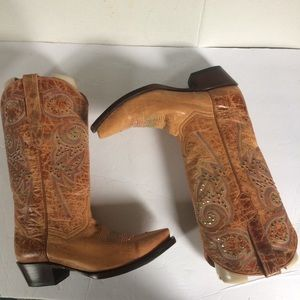 New Corky's Girl Poncho Distressed Western Boots